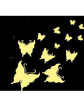 Stickers kit papillons phosphorescentes