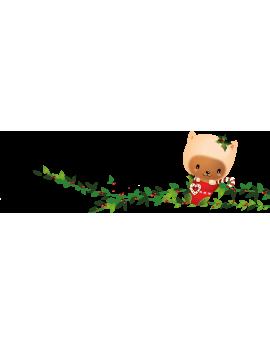 Stickers personnage enfantin sur branche repositionnable
