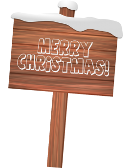 Stickers panneau bois Merry Christmas repositionnable