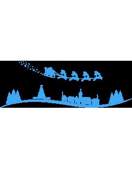 Stickers village de noël et traineau du père noël