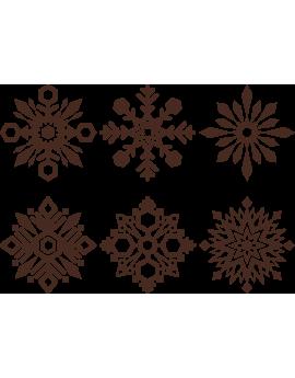 Stickers kits flocon de neige repositionnable