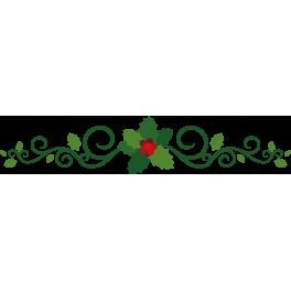 Stickers branche de houx arabesque