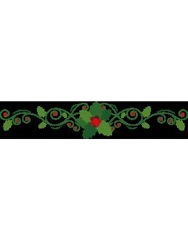 Stickers branche de houx arabesque repositionnable
