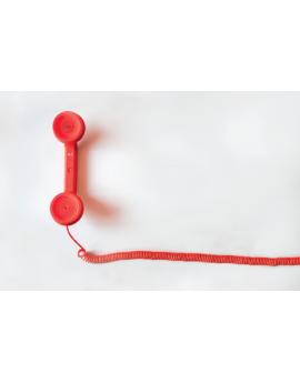 Poster téléphone rouge