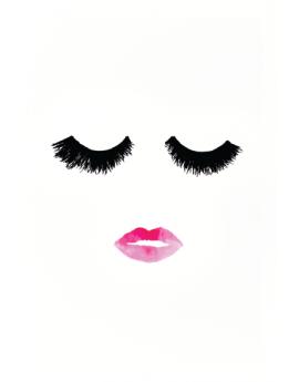Poster cils et bouche