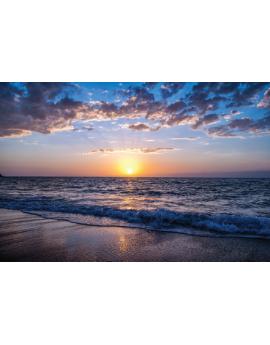 Poster couché de soleil sur la plage