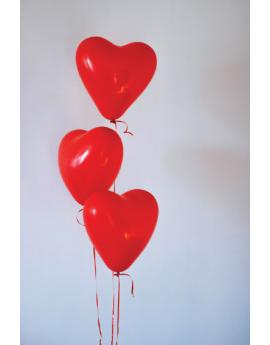 Poster ballons en forme de coeur
