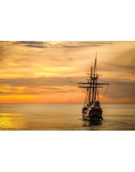 Poster bateau sur la mer