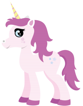 Stickers licorne rose