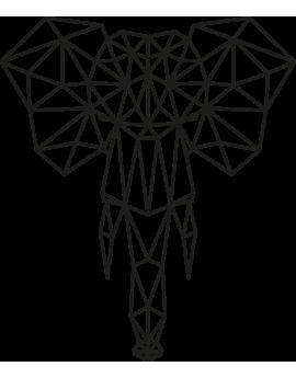 Stickers tête d'éléphant géométrique