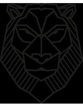 Stickers tête de lion géométrique