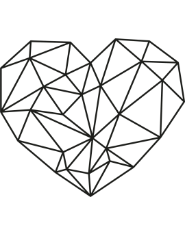 Stickers cœur géométrique