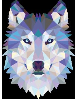 Tête de loup géométrique