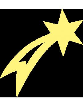Stickers étoile filante phosphorescents