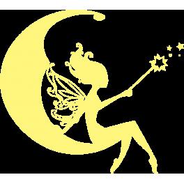 Stickers fée sur lune phosphorescents
