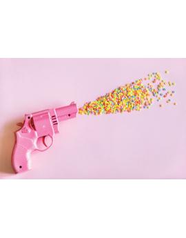 Poster pistolet à confettis