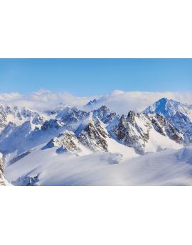 Poster montagne enneigé