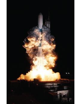 Poster décollage fusée