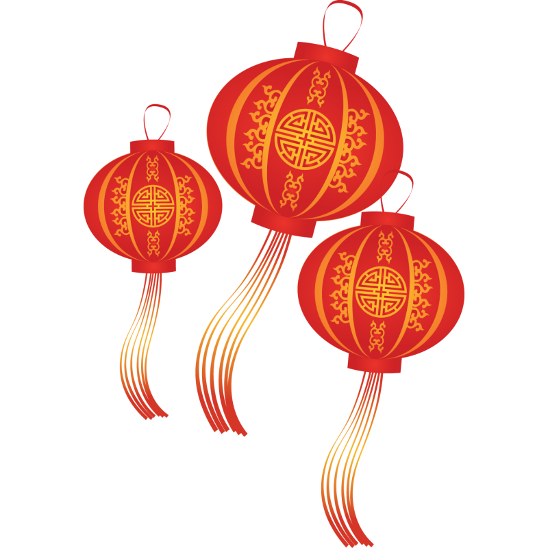 Sticker lampions chinois  Colorstickers