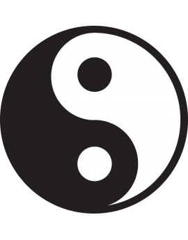 Sticker symbole chinois Ying Yang