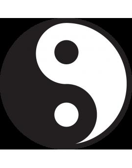 Sticker symbole chinois Ying Yang