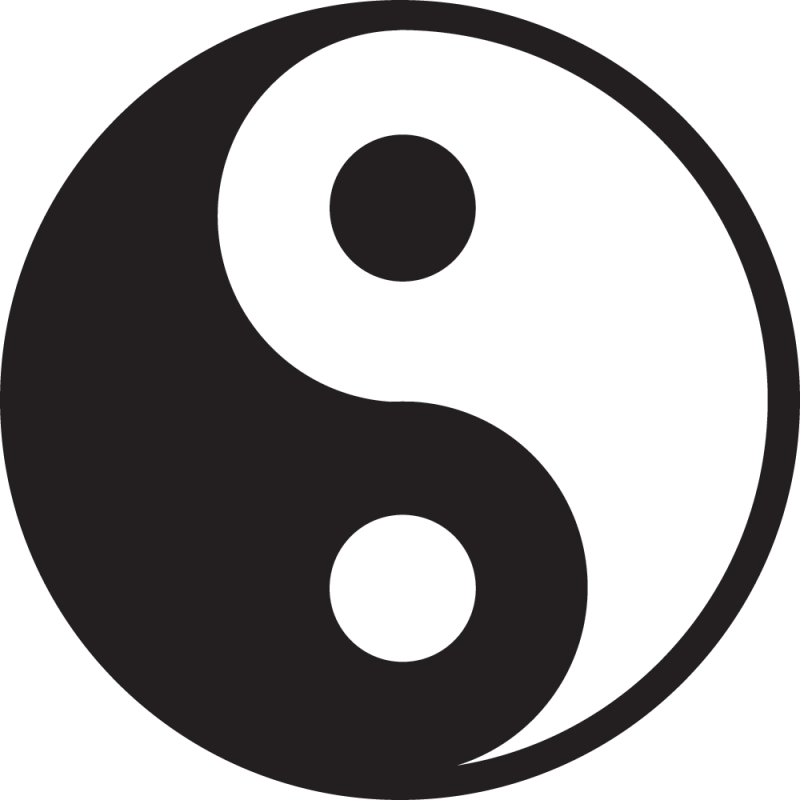 Sticker Symbole Chinois Ying Yang Color Stickers