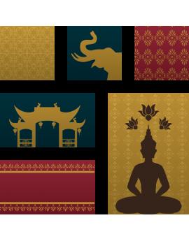 Sticker bouddha temple zen