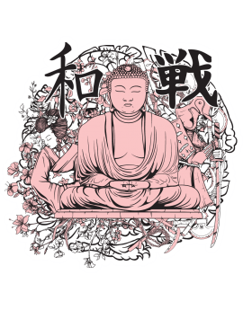 Sticker bouddha symbole chinois