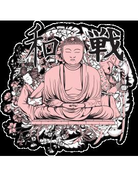 Sticker bouddha symbole chinois