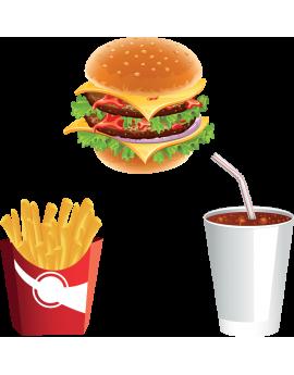 Kit Stickers menu fastfood hamburger