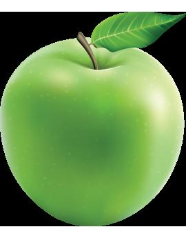 Sticker fruit pomme verte