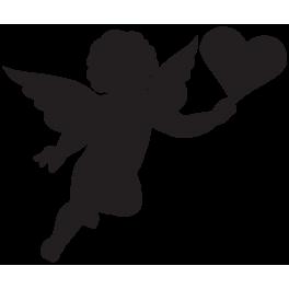 Sticker ange cœur
