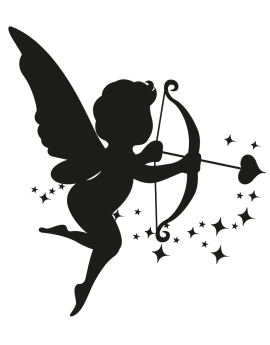 Sticker ange Cupidon