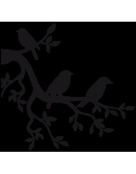 Sticker branche oiseau