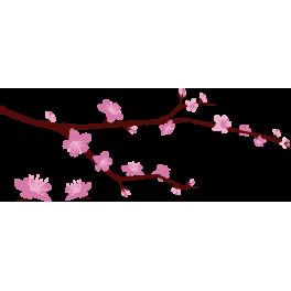 Branche De Cerisier sticker branche cerisier - color-stickers