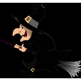 Sticker sorci re halloween color stickers - Image de sorciere ...