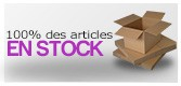 100% des articles en stock